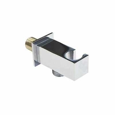 £15.99 • Buy Square Solid Brass Bathroom Wall Mounted Outlet With Shower Handset Holder