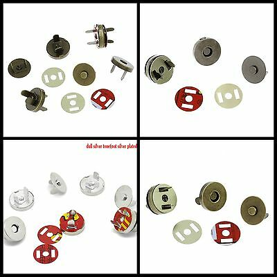 5 Pcs Magnetic Snap Clasps For Purses Or Bags 14mm And 18mm Many Colours ML • 1.95£