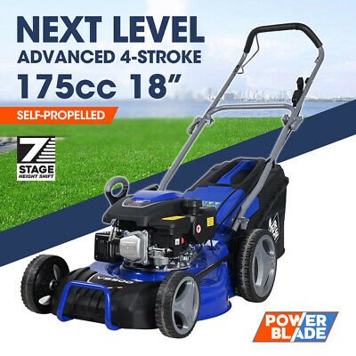 AU361 • Buy 【EXTRA15%OFF】POWERBLADE 18  Self-Propelled Lawn Mower 175cc Petrol Push