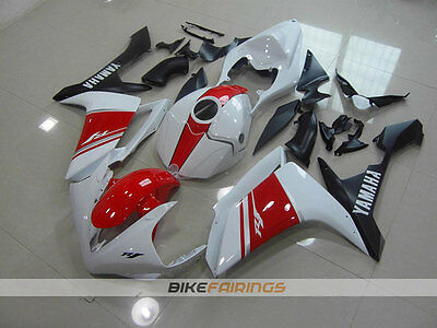 AU760 • Buy ABS Fairings Fit For YAMAHA R1 07 08 2007 2008 WHITE RED 2