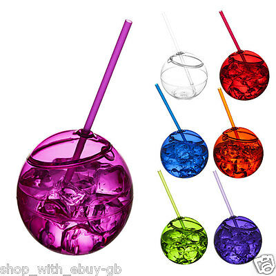 £7.21 • Buy 580ml Plastic Cocktail Fish Bowl Drinking Game Party Globe Punch Vodka Colour