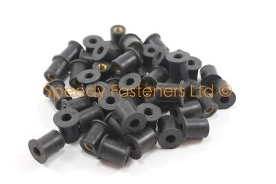 $ CDN56.76 • Buy 50x Rubber Rubnuts Well Nuts Wellnuts Lotus Elise S1 M6 6mm Thread 13mm OD