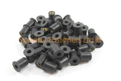 $ CDN50 • Buy 50x Rubber Rubnuts Well Nuts Wellnuts Lotus Elise S1 M6 6mm Thread 13mm OD