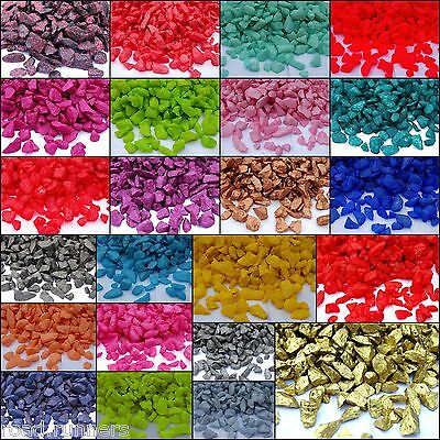 £5.16 • Buy Various Colour Glass Pebbles Stone  Beads Table Decoration Garden Craft Wedding
