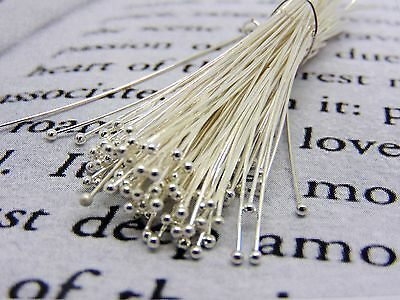 £2.69 • Buy 100 Pcs - 35mm Silver Plated Ball Head Pins Jewellery Craft Finding Beading B208