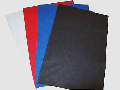 4 Pack Assorted Premium Wool Blend Arts & Crafts Fabric Felt Sheets, Squares,   • 2.99£