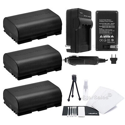 3x LP-E6 Battery + Charger For Canon EOS 7D 60D 5D Mark III • 24.07£