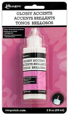 £4.25 • Buy Ranger Inkssentials Glossy Accents 2 Fl Oz. Water-based Dimensional Adhesive
