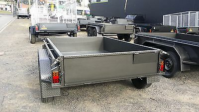 AU2399 • Buy 8x5 Tandem Trailer With Full Checker Plate Floor & Guards