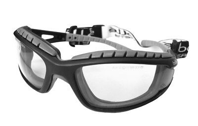 £11.99 • Buy Bolle Tracker MTB Specs Safety Glasses Clear Lens FREE BAG Anti Fog Scratch