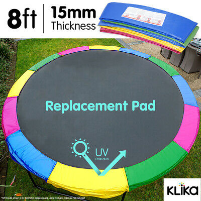 AU89 • Buy 8ft REPLACEMENT RAINOW REINFORCED OUTDOOR ROUND TRAMPOLINE SPRING PAD COVER
