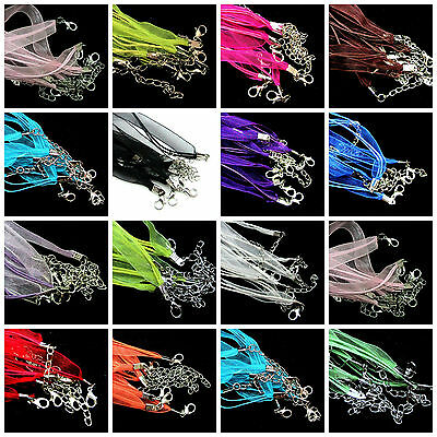 £1.59 • Buy 5 Pcs - New Organza Ribbon & Cord Necklace - Clasps Necklace Making Chains ML