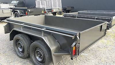 AU2390 • Buy 8x5 Tandem Trailer With Checker Plate Floor 400 Mm High Side
