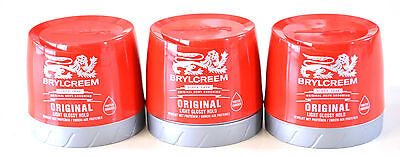 3 X 250ml RED TUBS CLASSIC BRYLCREAM HAIR STYLING CREAM • 10.98£