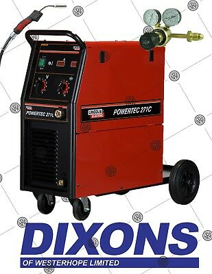 £1625 • Buy Lincoln Electric Powertec 271C MIG Welder Package 255amp Welding Single Phase