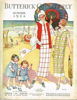 $13.46 • Buy 1920s Butterick Summer 1924 Quarterly Sewing Pattern Catalog 87 Pg E-book On CD
