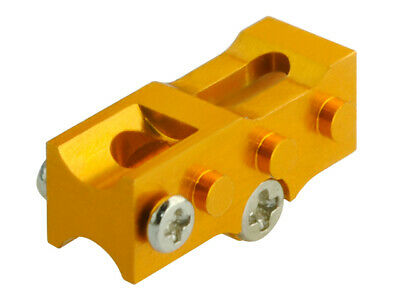 £4.63 • Buy Microheli Alum 2mm Tail Boom Mount GOLD For MH-NCPX005X Blade NCPX / Nano Cpx