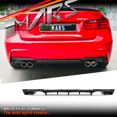 AU299.99 • Buy BMW Performance Style Twin Exhaust Bumper Bar Diffuser Lip For F30 F31 M Sports
