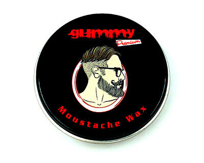 Beard Wax Moustache Wax Gummy Premium 20ml Beard&Moustache Wax Free Postage • 5.89£