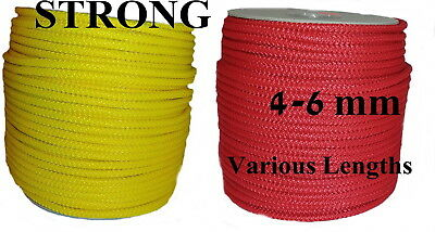 Sailing Boat Camp Yacht Pulley Washing Clothes Line Poly Rope Strong Yellow Red • 11.47£