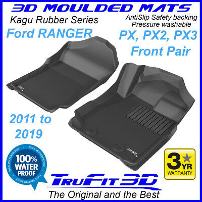 AU129 • Buy Fits Ford Ranger PX PX2 PX3 2011-2020 Genuine 3D Front Black Rubber Floor Mats