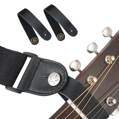 $ CDN7.23 • Buy Genuine Leather  Guitar Strap Button For Acoustic / Folk / Classic Guitar Black