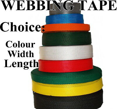Webbing Strapping Tape Strap Various Colors Decoration Lengths Polypropylene • 0.99£