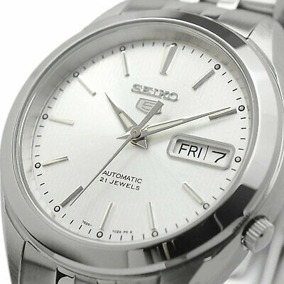 $ CDN125.57 • Buy SEIKO 5 SNKL15 SNKL15K1 Automatic 21 Jewels White Dial Stainless Steel Men Watch