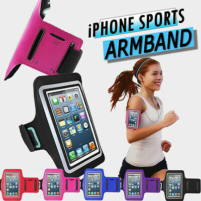 FOR IPHONE 5S 5 SPORTS ARMBAND CASE GYM RUNNING COVER JOGGING STRAP HOLDER • 3.99£