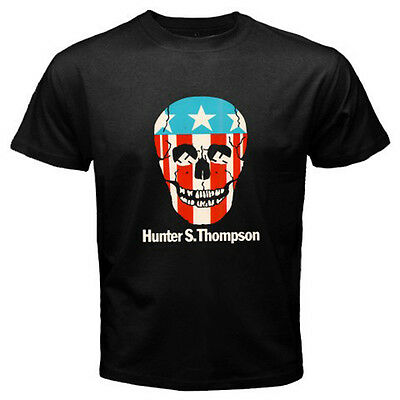 $14.99 • Buy New Hunter S. Thompson Skull Logo Men's Black T-Shirt S M L XL 2XL 3XL