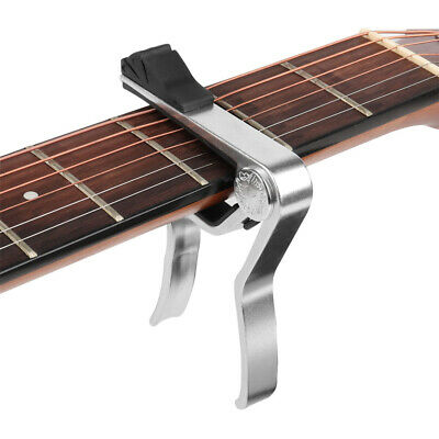 $ CDN9.88 • Buy Alloy Guitar Capo With Pick Holder For Acoustic Electric Classical Guitar Silver