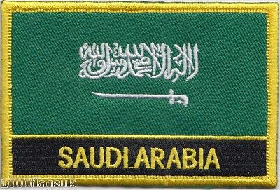 £4.99 • Buy Saudi Arabia Flag Embroidered Patch - Sew Or Iron On