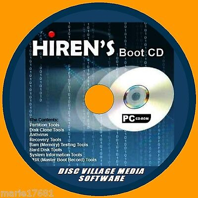 £4.49 • Buy Hirens Boot Utility Pc Cd Virus Malware Cleaners Mbr Tools Test Fix Recovery New