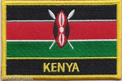 £4.99 • Buy Kenya Flag Embroidered Patch - Sew Or Iron On