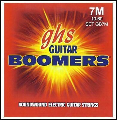 AU25.50 • Buy GHS Boomers 7 String Medium  Roundwound Electric Guitar Strings 10 - 60
