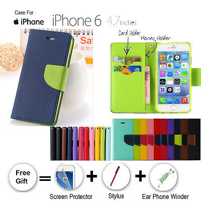 AU7.49 • Buy Wallet Style PU Leather Flip Stand Card Holder Type Case For IPhone 6 4.7