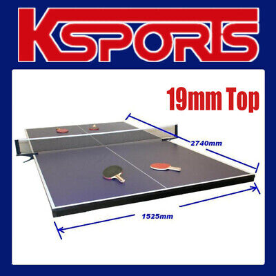 AU419 • Buy Table Tennis Ping Pong Table 19mm Top - Full Size - Placed On Pool Table