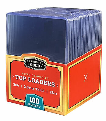 $11.40 • Buy 50 Ultra CBG 2.5mm 100pt Pro Top Loaders Toploaders Topload Thick Jersey Cards
