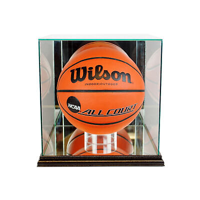 New Glass Full Size Basketball Display Case With Black Wood • 77.69$