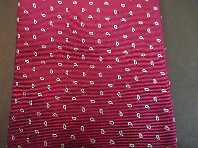 $44 • Buy  Men's Aquascutum Of London Fuschia/gray Paisley Silk Neck Tie Hand Made In US