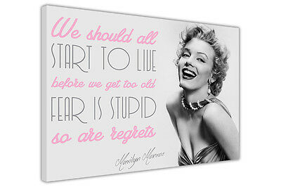 Marilyn Monroe Pictures Live Quote Canvas Wall Art Decoration Prints Photos • 14.99£