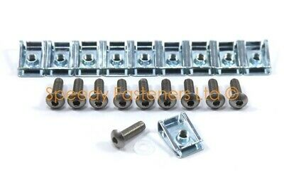10 X Panel Fasteners C Clips Spire Clip & Stainless Bolts Motorcycle Fairing M6 • 5.99£