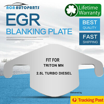 AU10 • Buy EGR Blanking Plate Fits Mitsubishi Triton MN 2.5Ltr Turbo Diesel Stainless Steel