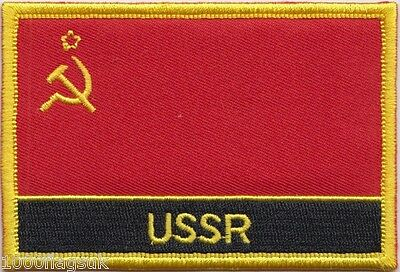 USSR Soviet Union Russia Flag Embroidered Patch - Sew Or Iron On • 4.50£