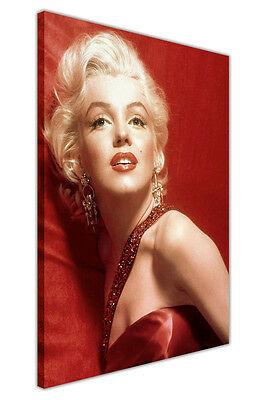 Marilyn Monroe Photos Red Canvas Wall Art Prints Home Decoration Pictures • 14.99£
