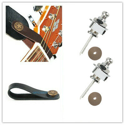 $ CDN10.85 • Buy Acoustic Guitar Strap Button Genuine Leather X 2 & Guitar Strap Locks Button X 2