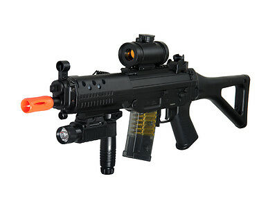 $79.98 • Buy Double Eagle M82p Full Auto Airsoft Electric Gun W/ Red Dot Scope + Flashlight