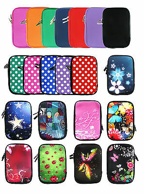 Soft Neoprene Sleeve Zip Case Cover Pouch Fits 7  Inch Tablets With Stylus • 3.99£