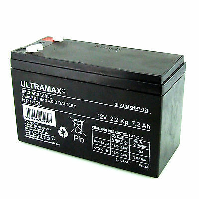 NP7-12L, 12V 7.2AH Ultra Max Lead-Acid Battery With 6.3mm Connection • 16.49£