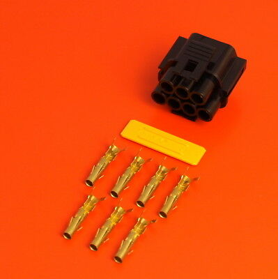 Genuine Lucas Rists 7 Way Black TTS Series Female Electrical Wiring Connector • 5.25£